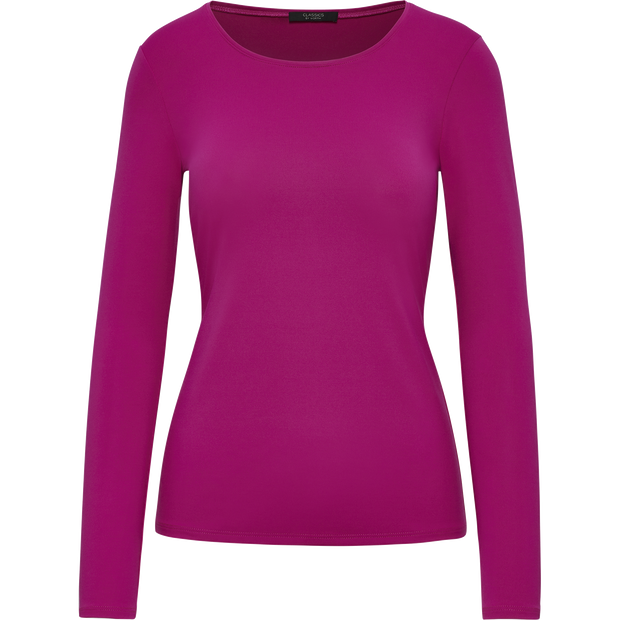 Fuchsia XS Tina Second Skin Tee Blouses & Shirts Classics by Worth Worth Collection