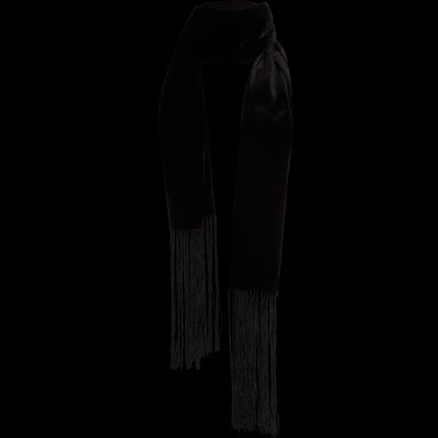 NO Midnight Velvet Fringe Scarf Accessories Classics by Worth Worth Collection