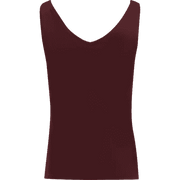 Burgundy XS Hannah Second Skin Tank Blouses & Shirts Classics by Worth Worth Collection