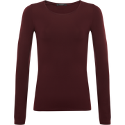 Burgundy XS Tina Second Skin Tee Blouses & Shirts Classics by Worth Worth Collection