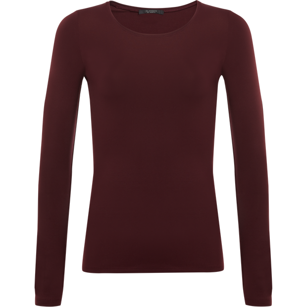 Classics by Worth Tina Second Skin Tee ${description} $99.00 Available in: Color Burgundy Size XS