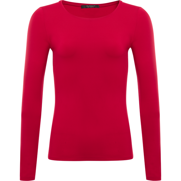 Red XS Tina Second Skin Tee Blouses & Shirts Classics by Worth Worth Collection