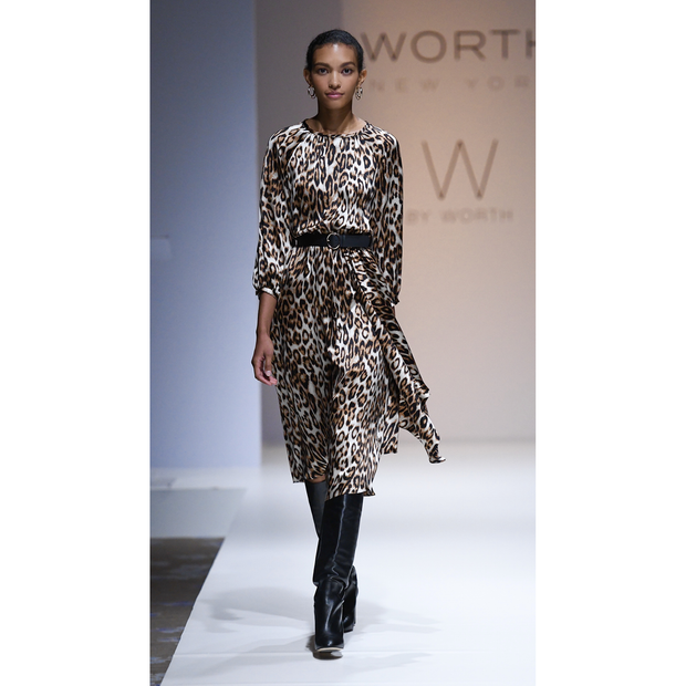 Worth New York Adelaine Dress ${description} $648.00 Available in: Color Camel Printed Leopard Size MD