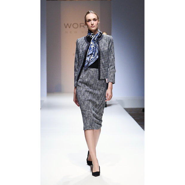 Worth New York Abby Jacket ${description} $648.00 Available in: Color Silver Lurex Tweed Size 04
