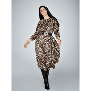 Adelaine Dress-Dresses-Worth New York-Animal Print-XS-Worth Collection