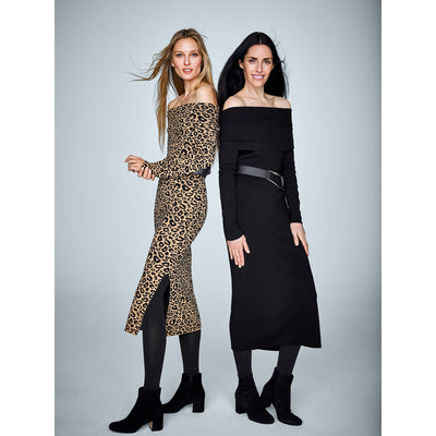 Midnight XS Asymmetric Neck Knit Dress Dresses Worth New York Worth Collection