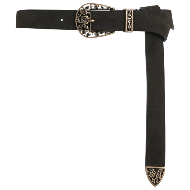 Leather Filagree Western Belt