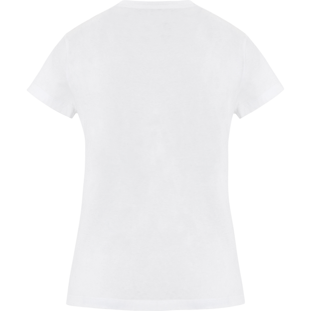 White printed-novelty-tee