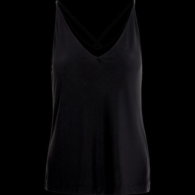 Black matte-jersey-cross-back-camisole