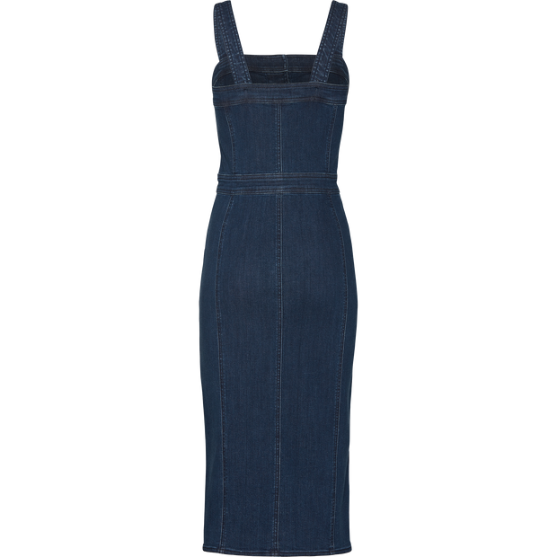Blue stretch-denim-tank-dress