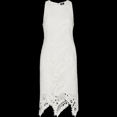 White lace-shift-dress