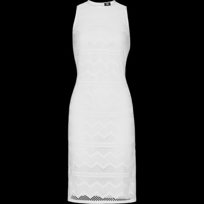 White stretch-lace-shift-dress