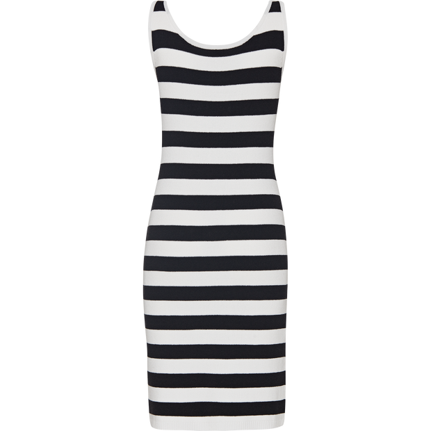 Black and White striped-cotton-dress