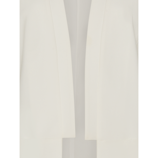 White solid-suiting-panel-jacket