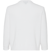 White jewel-neck-intarsia-pullover
