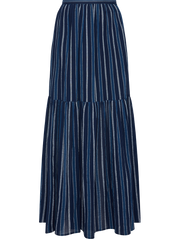 Pattern indigo-striped-cotton-maxi-skirt