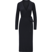 Wrap Knit Dress-Dresses-W by Worth-Sapphire-XS-Worth Collection