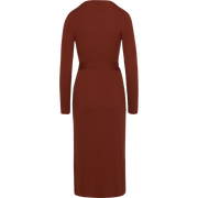 Wrap Knit Dress-Dresses-W by Worth-Rust-XS-Worth Collection