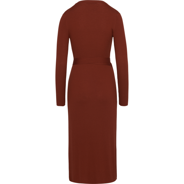 Rust XS Wrap Knit Dress Dresses W by Worth Worth Collection