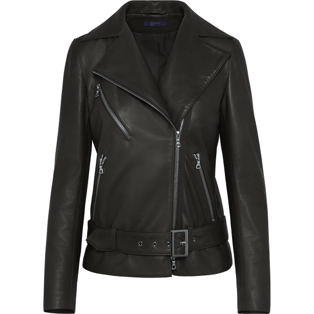 Midnight 00 Luna Moto Jacket Jackets W by Worth Worth Collection
