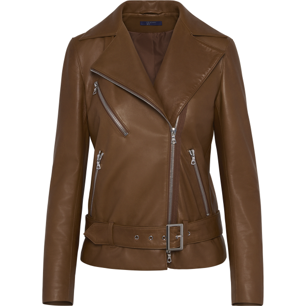 Luna Moto Jacket-Jackets-W by Worth-Camel-00-Worth Collection