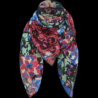 Floral NO Modal Fantastic Floral Square Scarf Accessories W by Worth Worth Collection