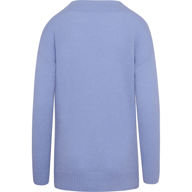 Periwinkle XS Mohair V Neck Pullover Sweaters W by Worth Worth Collection