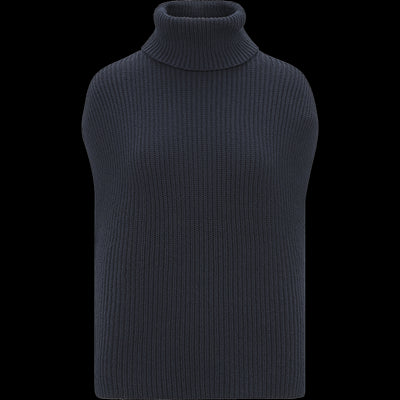 Cap Sleeve Turtleneck Pullover-Sweaters-W by Worth-Sapphire-XS-Worth Collection