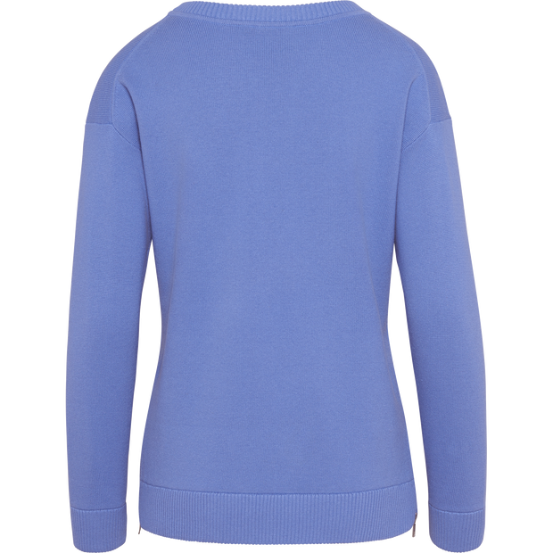 Periwinkle XS Side Seam Zip Pullover Sweaters W by Worth Worth Collection