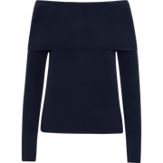 W by Worth Off the Shoulder Sweater ${description} $164.00 Available in: Color Navy Size XS