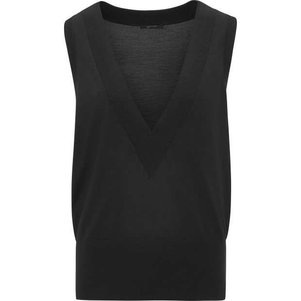 Midnight XS Deep V Sleeveless Pullover Sweaters W by Worth Worth Collection