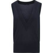 Sapphire XS Deep V Sleeveless Pullover Sweaters W by Worth Worth Collection
