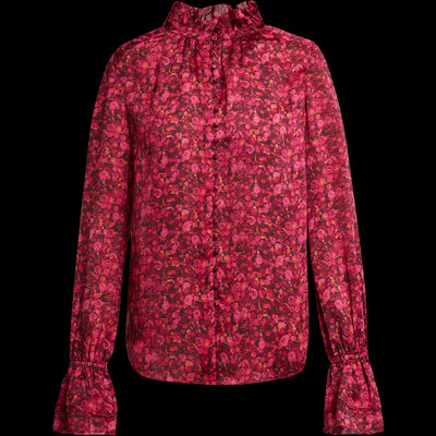 XS Candy Apple Floral Demi Blouses & Shirts W by Worth Worth Collection