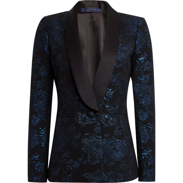 W by Worth Larissa Jacket ${description} $249.00 Available in: Size 02 Color Black Midnight Blue Floral Jacquard