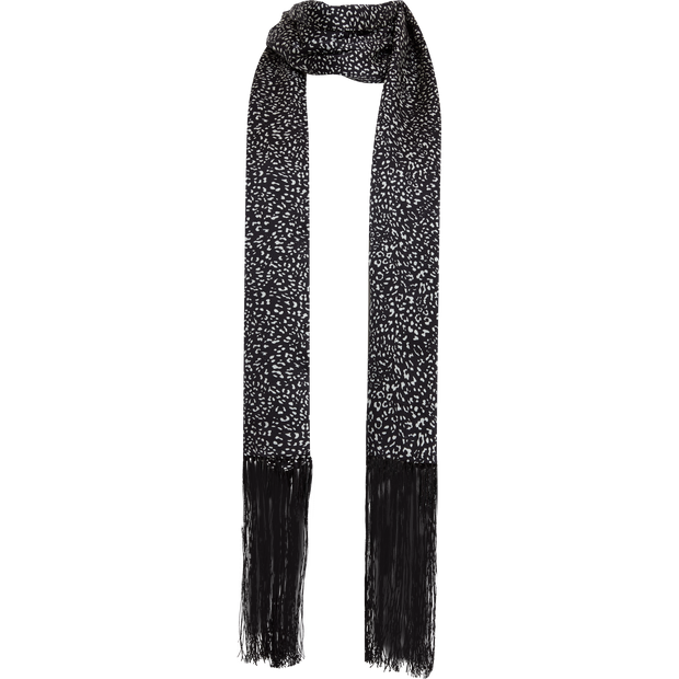 Skinny Oblong Scarf-Accessories-W by Worth-NO-Midnight-Worth Collection