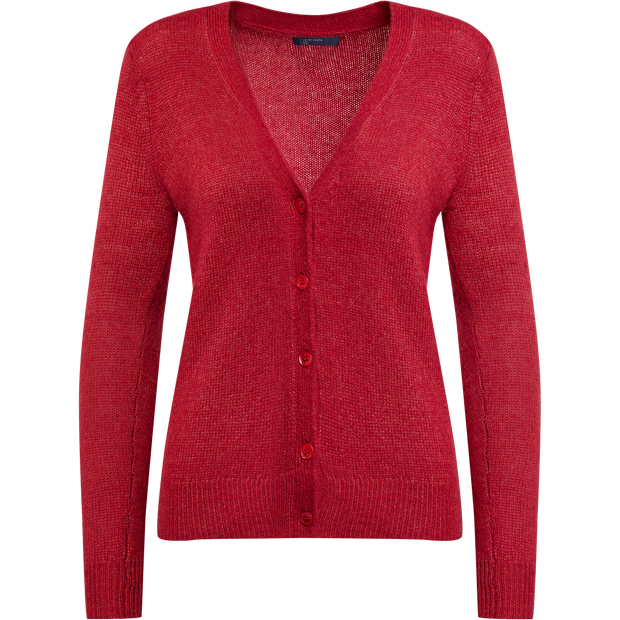 XS Candy Apple Wool Cardigan Sweaters W by Worth Worth Collection