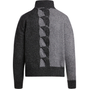 W by Worth Intarsia Cable Pullover ${description} $398.00 Available in: Size XS Color Dark Heather Grey Colorblock