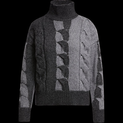 Intarsia Pullover-Sweaters-W by Worth-XS-Heather Grey Color Block-Worth Collection