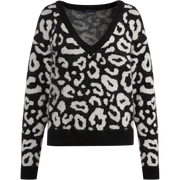 XS Midnight and Ivory Birdseye Sweater Sweaters W by Worth Worth Collection