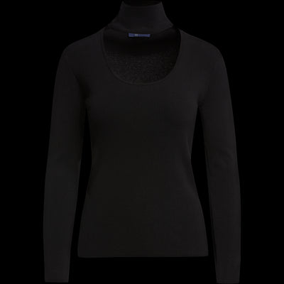 XS Midnight Scoop Neck Turtleneck Sweaters W by Worth Worth Collection