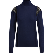 W by Worth Turtle Lace Sweater ${description} $149.00 Available in: Color Winter Blue Size XS