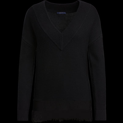 XS Midnight Fringed Easy Pullover Sweaters W by Worth Worth Collection