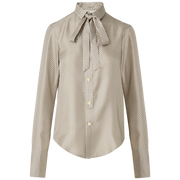 W by Worth Amy Blouse ${description} $169.00 Available in: Size SM Color Gunmetal Grey Ivory