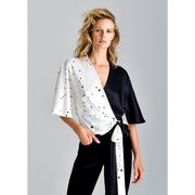 XS Midnight and Ivory Stella Blouses & Shirts W by Worth Worth Collection