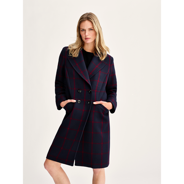 W by Worth Sassi Coat ${description} $598.00 Available in: Color Navy Red Windowpane Size XL
