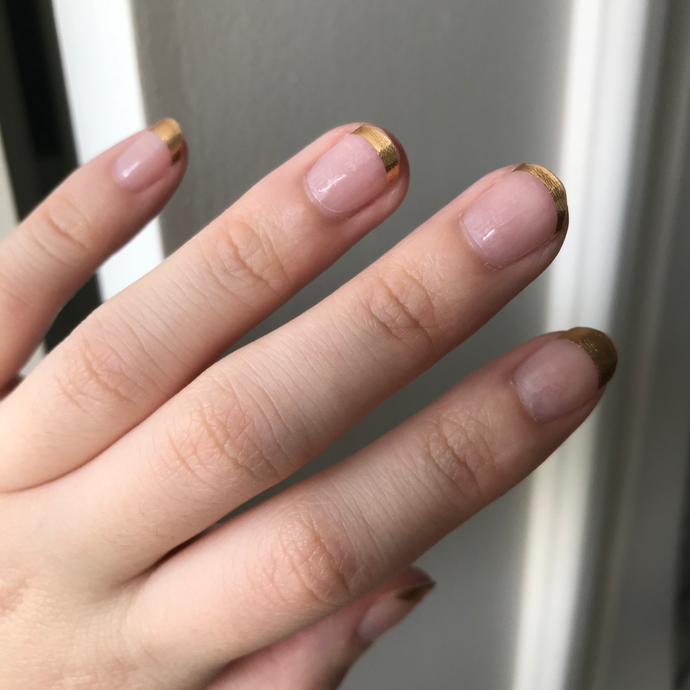 French Gold Tips - Yay to Nails