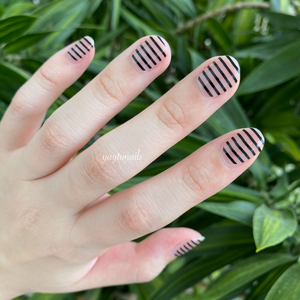 Black Stripes - Yay to Nails