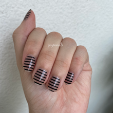 Load image into Gallery viewer, Black Stripes - Yay to Nails