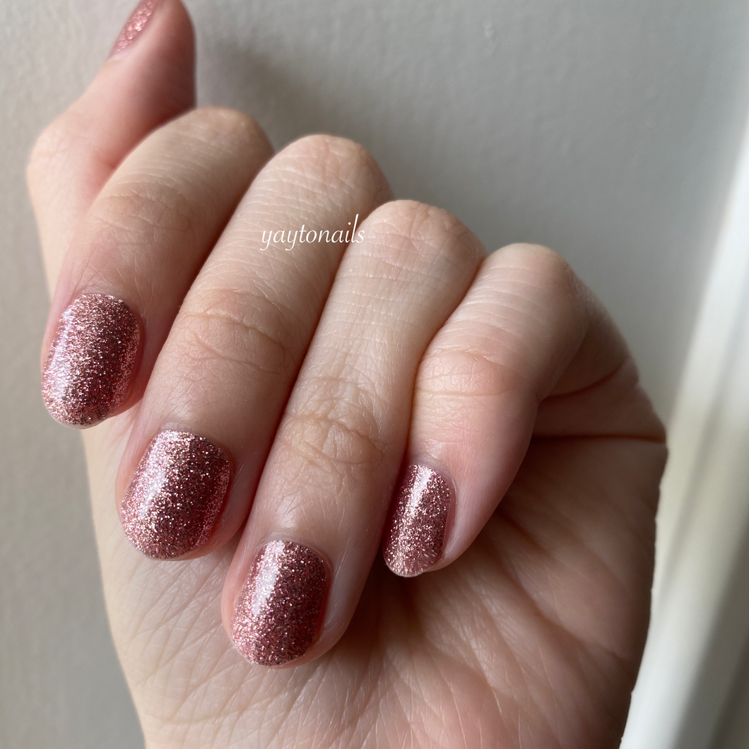 Dusty Pink - Glitter - Yay to Nails