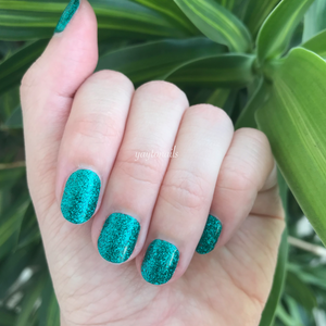 Emeralds - Glitter - Yay to Nails